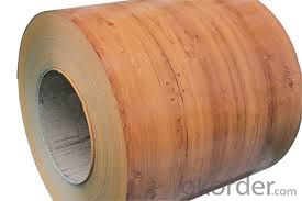 Color Steel Rolled/Printed Color Coated Sheet /Rough and Glossy Wood Grain Steel Coils