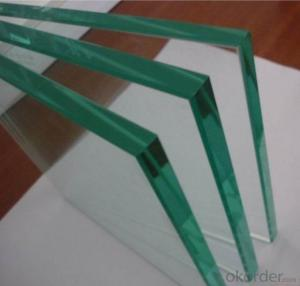 Clear Tempered Glass with 3C/CE/ISO Certificate 3mm-19mm