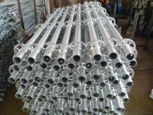Ringlock Scaffolding Standard Q235/345 Steel Galvanized