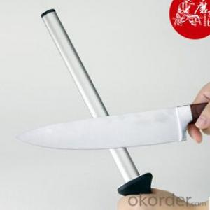 Stainless Steel Diamond Rod Sharpener for Knives 8''