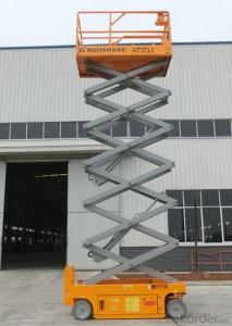 scissor lift with two model:dissel and battery type