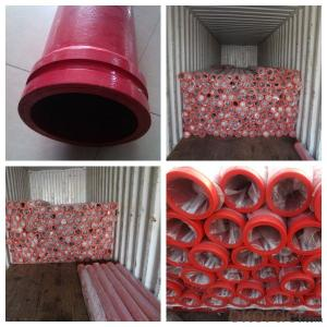 CZBY Twin Wall Concrete Pump Pipe with wear resistant SK flanges