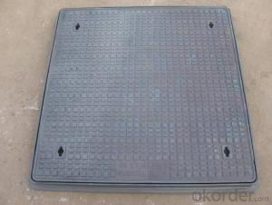 Manhole Cover  by Cast Iron Heavy Duty Square Set  D400