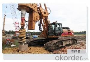 OTR300D rotating drill with large diameter pile
