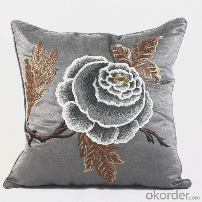 Cotton Cushion with Beautiful Flower Printing