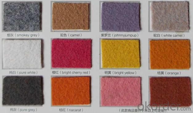 Non Woven Polyester  Carpet for Exhibition
