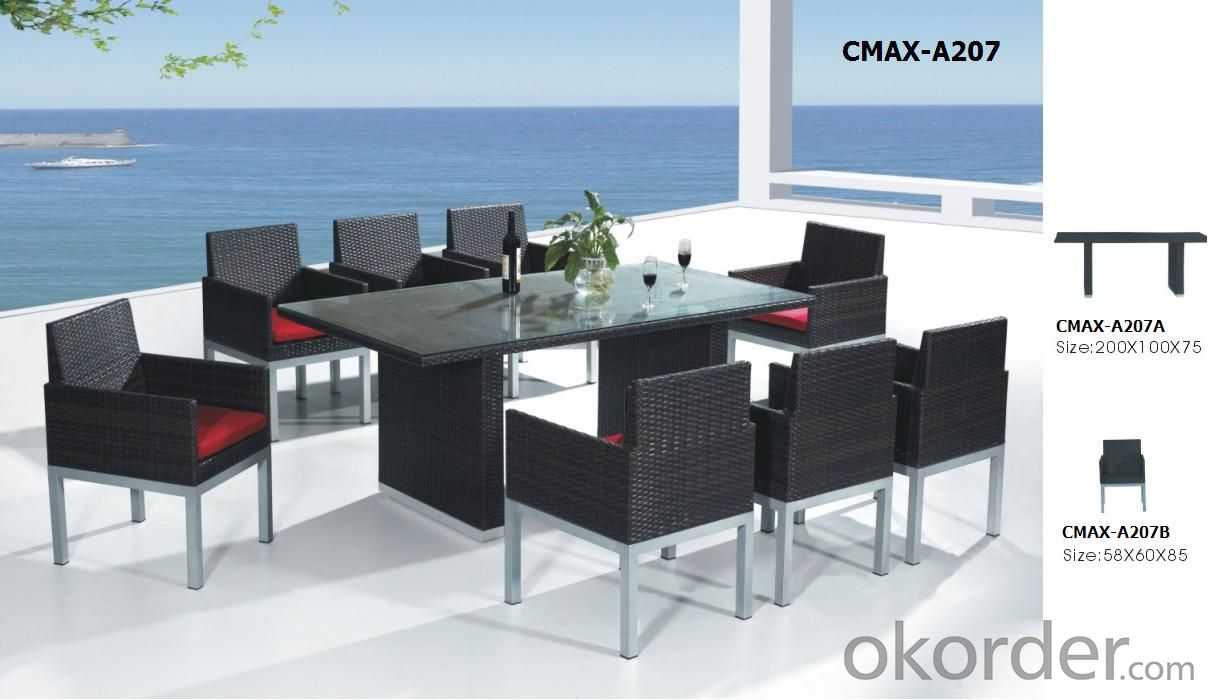 Outdoor Furniture PE Rattan Furniture Dinning Set CMAX-A015