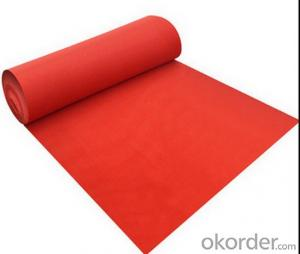 playground red pet non woven fabrics carpet