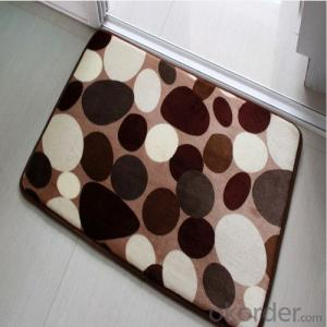 Cotton / Polyester Carpet Tile through Hand Make for Flooring