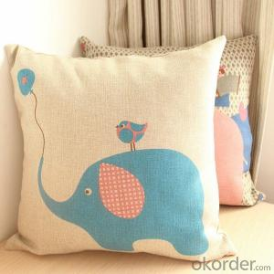 Cotton Sofa Cushion with Beautiful Painting