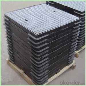 Manhole Cover EN124 C250 600X600mm Composite  and Frame