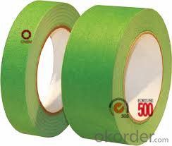 Masking Tape Green Color SGS&ISO9001 Certificate