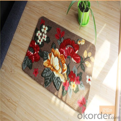 Polyester Carpet / Rug Tile through Hand Make with Modern Design