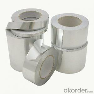 Silver Aluminum Foil Tape Synthetic Rubber Based Discount