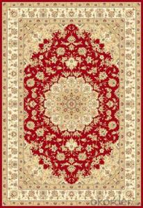 Viscose Carpet and Rug Red Color Rectangle Shape