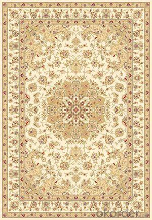 Viscose Wilton Carpet and Rug Beige Color Rectangle Shape