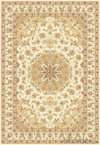 Viscose Wilton Carpet and Rug Beige Color Rectangle Shape