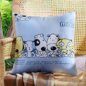 Home Cushion With Printed Pattern Hot Sale