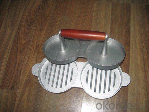 Double Aluminum Alloy  BBQ Hamburger Press