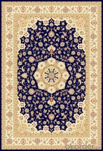 Viscose Wilton Carpet and Rug Dark Color with Custom Design