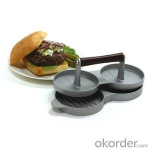 Zinc Alloy Hamburger Press Non-Stick Meat Press Aluminum Hamburg Press