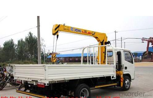 Small Truck Mounted Crane Truck Crane Max Lifting Capacity 2 Tons
