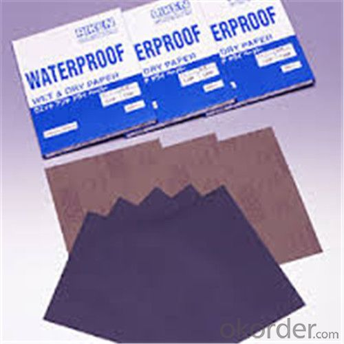 Waterproof Abrasives Sanding Paper for the Buildings