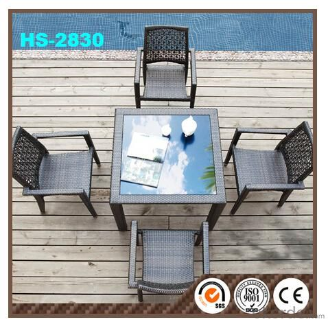 Aluminum Rattan Garden Furniture Hot sale 5pcs  DC8232