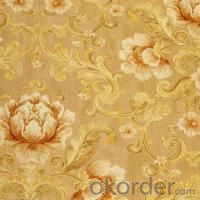 PVC Wallpaper Colorful Deep Embossed for  Hotel House Decorate Follower