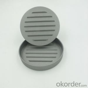 Single Aluminum Nonstick Burger Presser with Wooden Handle