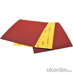 Waterpoof Abrasives Paper for Steel and Inox Surface