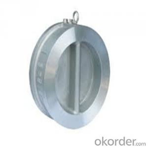 Swing Check Valve Wafer Type Double Disc DN 650 mm