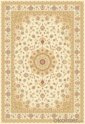 Viscose Wilton Carpet and Rug Beige Color with Modern Design
