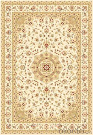 Viscose Wilton Carpet and Rug Beige Color with Modern Design