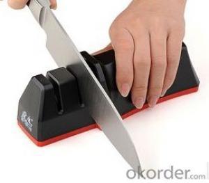 Kitchen Sharpener with Diamond/Ceramic Wheel inside Handle Tools