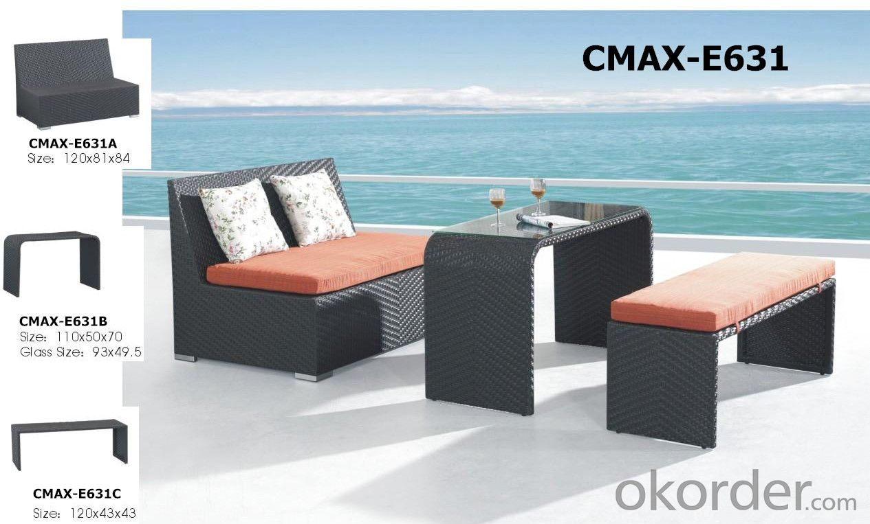 Aluminum Frame PE Rattan Outdoor Furniture Bar Sets CMAX-E623