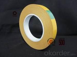 Double Sided Tissue Tape  Solvent Based Adhesive Yellow Color