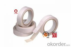 Tissue Tape Double Sided Hot Melt Adhesive 80Micron White Color