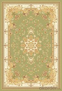 Viscose Wilton  Carpet and Rug Green Color Commercial Carpet Tile