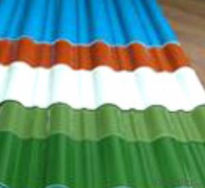 Color Corrugated  coated Galvanized Steel sheet With Different Color