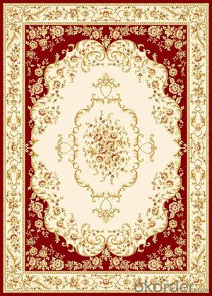 Viscose Carpet and Rug Wilton Red Color  Machine Washable Carpet