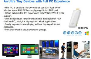 intel Mini PC-Stick Quad Core Windows System Ultra Tiny Design