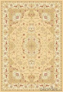 Viscose Wilton  Carpet and Rug Beige Color Persian Design