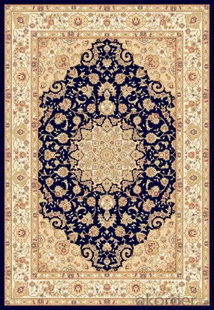Viscose Rug Wilton Machine Persian Style Washable Area Rug