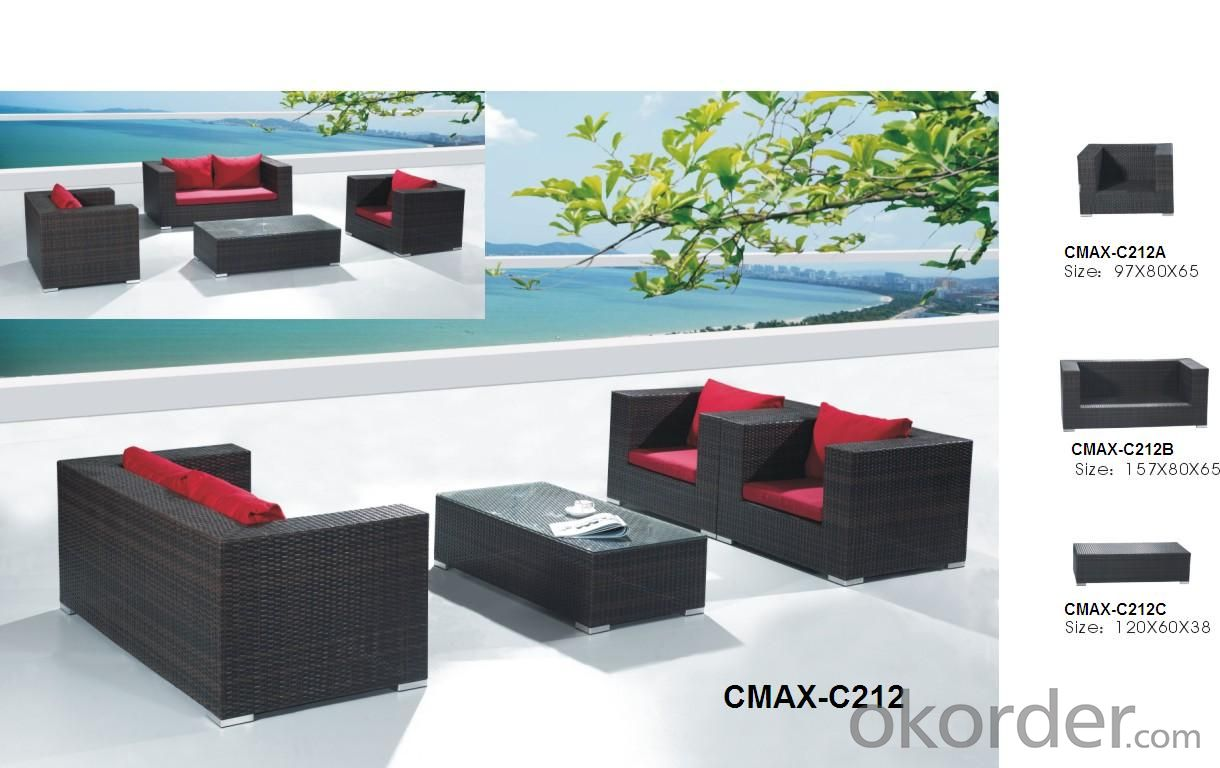 Garden Sofa Set Outdoor Furniture for Beach & Garden Patio CMAX-C212