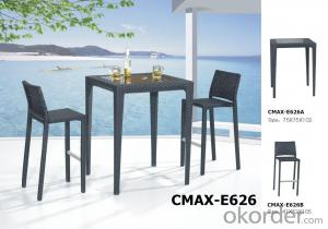 Outdoor Furniture Bar Set for Restaurant with Waterproof Cushion CMAX-E627