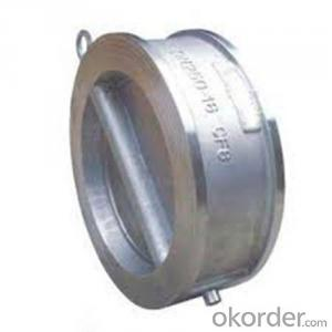 Swing Check Valve Wafer Type Double Disc DN  600 mm