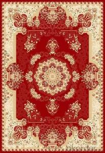 Viscose Rug Wilton Machine Beige Color Area Carpet