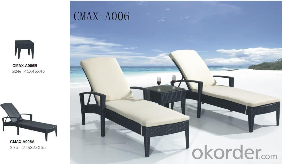 Outdoor Furniture Sun Bed with Waterproof Cushion CMAX-A006
