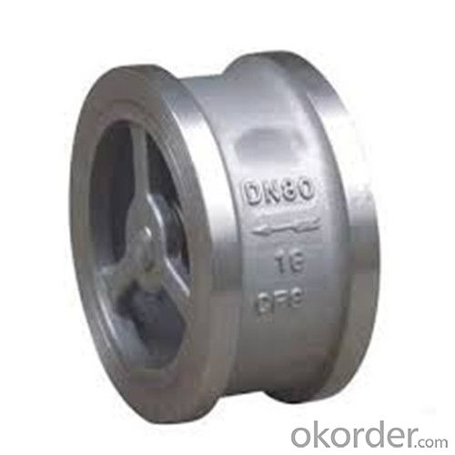 Swing Check Valve Wafer Type Double Disc DN 250 mm